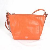 FOSSIL Bright Coral Orange Top Zip SYDNEY Crossbody Purse NEW NWT 2449RD - $99.99