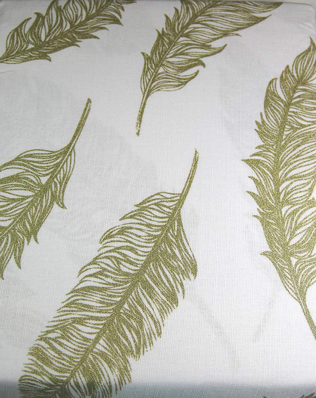 Envogue Golden Feathers 100% Cotton Shower Curtain