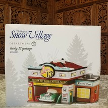 DEPARTMENT 56 The Original Snow Village LUCKY 13 GARAGE 4050985 NEW IN BOX  - $98.00