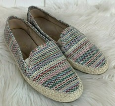 Aerosoles Espadrille Shoes Flats Womens 7.5 Rainbow Metallic Loafers Lug Soles - $24.70