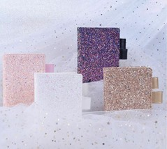 A6 Glitter Daily Weekly Monthly Planner, Gold Pink Purple White Sequins ... - $29.99