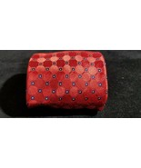 Classy Tommy Hilfiger 100% Silk Red & Navy Blue Check Two Tone Power Tie... - $9.70