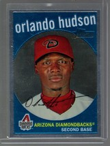 2008 TOPPS HERITAGE CHROME C131 ORLANDO HUDSON 425/1959 DIAMONDBACKS - $1.99