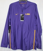 Nike LSU Tigers 2018 Sideline Lockdown Men's Half-Zip Jacket, Purple, 00... - $55.43