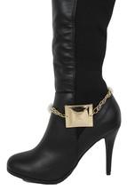 Donna Western Scarponcini Alla Moda Bracciale Oro Catena di Metallo Scar... - $27.39