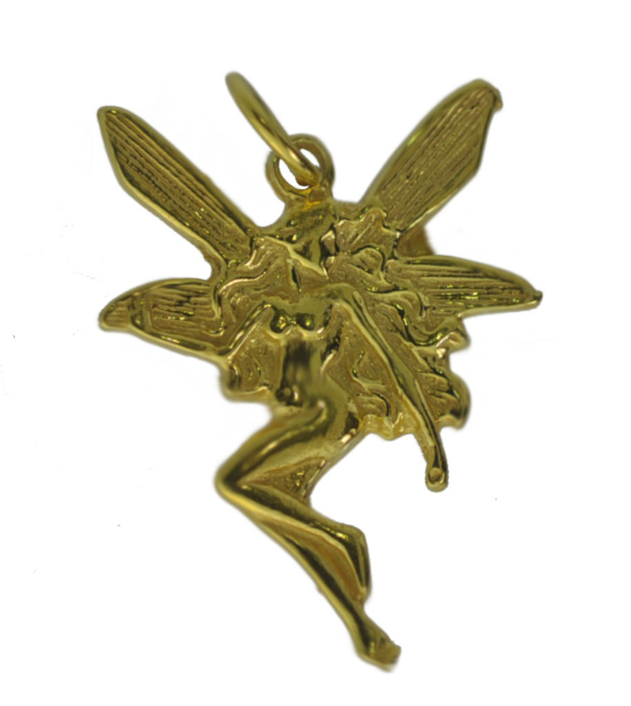 WOW 24K Yellow Gold Plated Fairy faith Celtic jewelry charm Faerie Lore of Irela