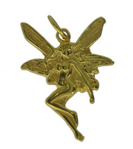 WOW 24K Yellow Gold Plated Fairy faith Celtic jewelry charm Faerie Lore ... - $13.36