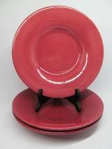 """PotteryBarn Sausalito Dinner Plates China Dinnerware 12.5"""" Bundle of 3 RED - $27.32"""