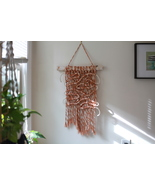 Copper and Gold Metallic Twist Macrame Wall Hanging - $45.00