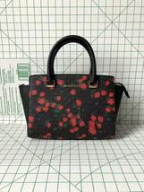 Michael Kors Selma Floral Medium Top Zip Saffiano Leather Satchel Crossb... - $110.00
