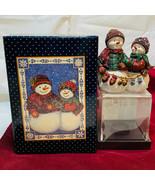 Lang & Wise Sherri Buck Baldwin Christmas Snowmen Figurine Hand In Hand ... - $34.64