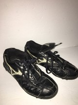 Mizuno Baseball Cleats Shoes-Size 6-Unisex-Cleaned-#FB67LBK-SHIPS N 24 Hours - $13.74