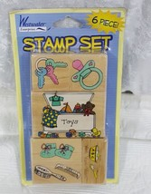 Westwater Enterprises Rubber Stamp Set of 6 Baby Theme - $11.29