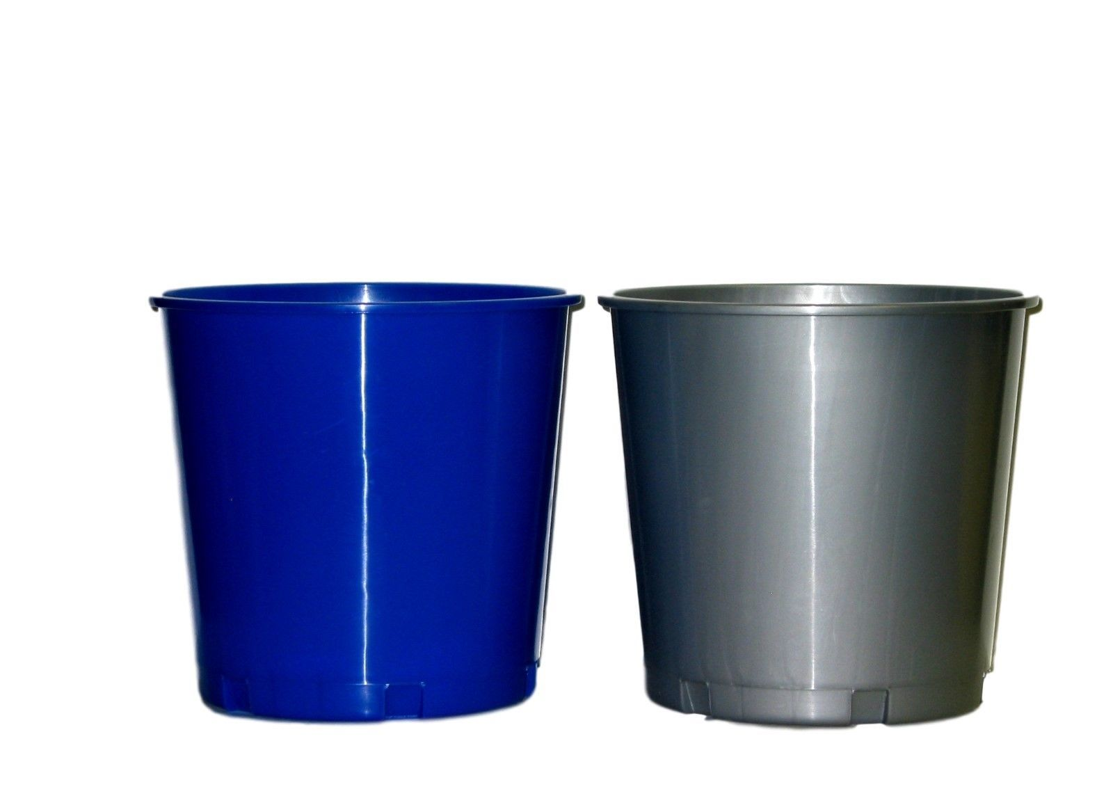 2 BLUE SILVER OFFERING OR ICE  BUCKETS MADE USA HOLDS 176 OUNCES LEAD FREE NO BP - $24.81