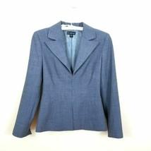Bebe Women`s Size 4 Gray Blazer Hook Closure Long Sleeves Career Jacket  - $19.79
