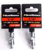 "Geawrench 3/16"" Flex Socket 1/4"" Drive 80262 2PCS - $3.47"