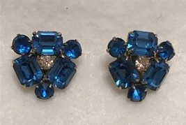 Coro Blue-Stone Earrings - $14.00