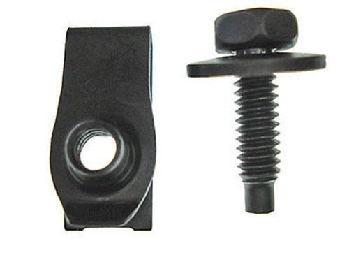 Ford Mercury Lincoln bolts with long nuts 1/4-20 black - $14.40