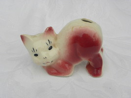 Vintage Pink and White Pottery Cat Air Freshener - $6.99