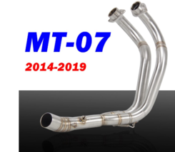 MT-07 Slip-On Motorcycle Exhaust Front Exhaust Headers Link Pipe Full Pipe - $141.23