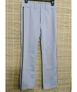 MIZUNO PERFORMANCE YOUTH SOFTFALL PANTS GRAY SZ YXL 28-30 POLYESTER 26 X... - $4.90