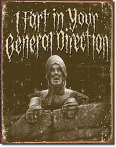 Monty Python's Holy Grail Fart in Your Direction Classic Movie Metal Sign - $20.95
