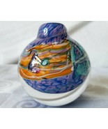 Art Glass Paperweight Signed Peter Patterson 90 Bud Vase Paperweight FUNKY - $118.70