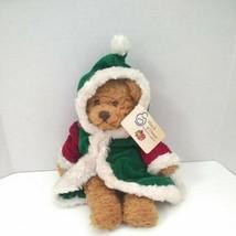 March of Dimes Plushland Teddy Bear Plush Bean Bag Christmas 2002 Mrs Claus - $14.85