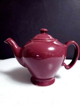 Vintage McCormick Tea by Hall Maroon Burgundy 3 Cup Teapot with Lid Made... - $17.33