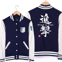 Attack on Titan baseball uniform Jacket Sport Outfit - $54.86 CAD+