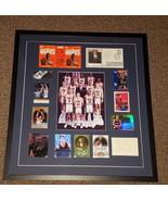 1992 USA Dream Team Signed Framed 23x25 Display JSA Michael Jordan Larry... - $4,834.99