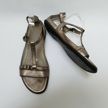 Ecco Womens Shoes Sandals Buckles Straps Metallic Gold Size US 10-10.5 E... - $69.25