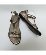Ecco Womens Shoes Sandals Buckles Straps Metallic Gold Size US 10-10.5 E... - $69.25