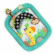 Bright Starts Giggle Safari Baby Prop Mat Tummy Time Monkey Jungle Play ... - $17.77