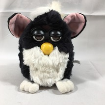 1st Original Black and White Skunk Furby Pink Ears Rare Brown Eyes 1998 Works - $51.67