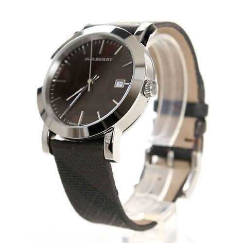 Burberry BU1775 Womens Watch Swiss Smoked Check Brown Fabric Strap