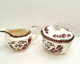 Vintage Spode England Coffee Creamer Sugar Bowl 2/959 - $32.71