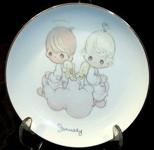 January Precious Moments Commemorative Plate AA20-2187 Vintage Collectible - $39.95