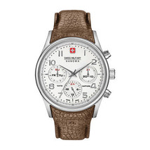 Mens Quartz Watch Swiss Military -NAVALUS_MULTIFUNCTION_06-4278_04 Brown Leather - $181.41