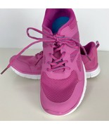 Danskin Now Pink Lightweight Athletic Running Shoe Sz 9.5 Walking Blue Trim - $22.76