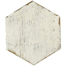 "SomerTile FNURTXBL Vintage Hex Porcelain Floor and Wall Tile, 14.125"" x 16.25"","