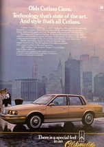 1985 Oldsmobile Cutlass Car Automobile World Trade Centre Vintage Print ... - $7.92