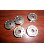Five Rotary Bobbins #744 Used Working Original (US Quarter Size) - $12.50