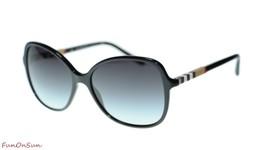 Burberry Women Sunglasses BE4197 30018G Black/Grey Gradient Lens 58mm - $173.63
