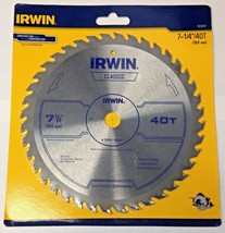 "Irwin Classic 15230ZR 7-1/4"" x 40T General Purpose Circular Saw Blade - $13.12"