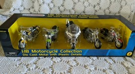 Maisto 1:18 Die Cast Plastic Kawasaki Motorcycles 5 pack Collection #320... - $48.49