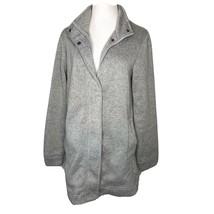 Lands End Gray Sweater Jacket Zip Up Sz Medium fits 10-12 - $28.50