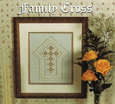 Terry Capps The Family Cross Framed Piece Bookmark Hardanger Embroidery Pattern - $13.99