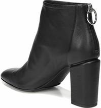 NIB VIA SPIGA Italy Booties Boots 35 5 smooth leather heels shoes zipper... - $184.29