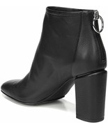 NIB VIA SPIGA Italy Booties Boots 35 5 smooth leather heels shoes zipper... - $184.29